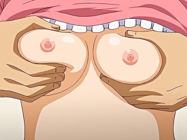 girl breast squeezing hentai Anime